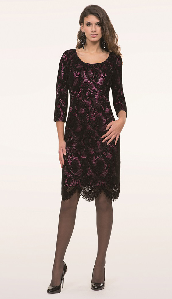 1ef3ec02b7e2 Michaela Louisa – Michaela Louisa Black Pink Lace Dress ...